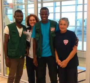 A l'aéroport de Conakry, en mission de contrôle sanitaire auprès du personnel local